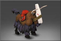 Trusty Mountain Yak This trusty Yak bears a thrice-blessed Mask of Duty, as is requred of all those noble beasts who might serve in battle.