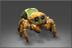 Itsy Not so itsy, say you? Her enormous elder siblings click their mandibles and roll their many eyes at their sister's puny proportions. To prove her worth, this fleet-footed spiderling will eagerly scuttle to your service and weave her web around your heart!