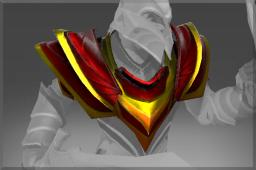 Uncommon Crimson Wyvern Shoulders