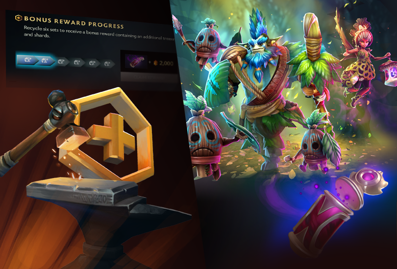 Todays Update Includes The Debut Of The Treasure Of The Carmine Cascade Featuring All New Item Bundles For Ancient Apparition Ember Spirit Oracle