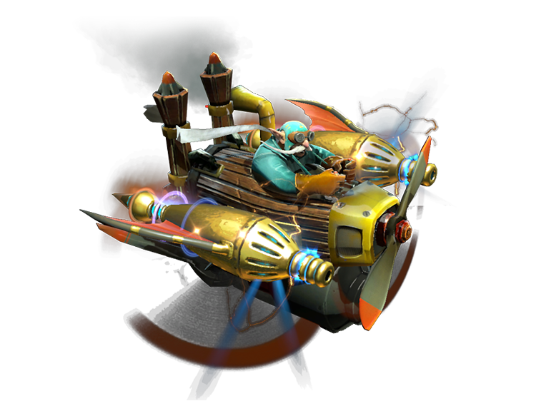 Compendium Immortal Items: Gyrocopter: Golden Atomic Ray Thrusters