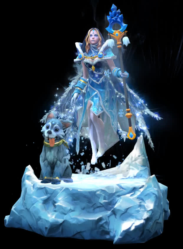 Dota 2's Crystal Maiden gets wolf puppy companion | PC Gamer